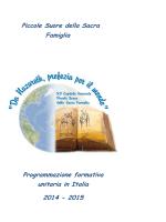 Programmazione formativa unitaria 2014-2015