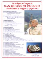 manifesto reliquia San Giovanni Paolo II