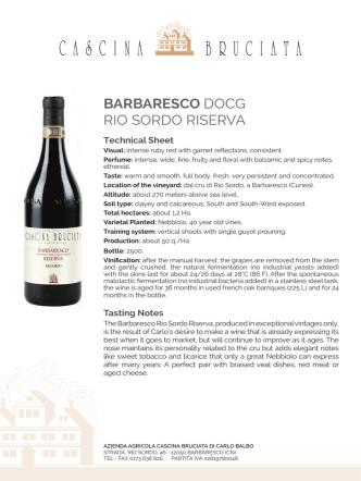 BARBARESCO DOCG RIO SORDO RISERVA