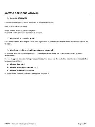 Configurazione Mozilla Thunderbird - INNOVA :: Web