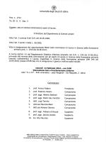 Commissione appello esame finale di laurea 14 febbraio 2014