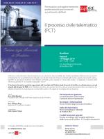 Il processo civile telematico (PCT)