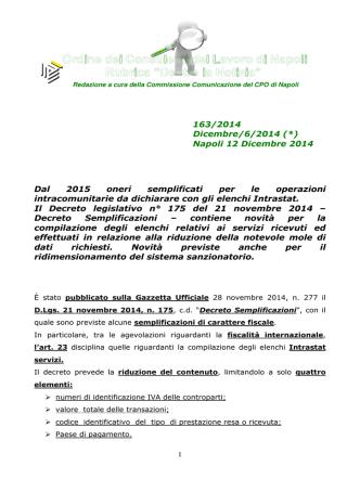 clicca qui - Ordine CDL Napoli