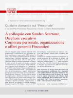 A colloquio con Sandro Scarrone, Direttore esecutivo