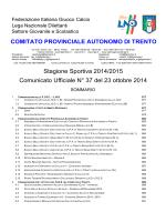 Comunicato n. 37