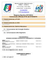 Stagione Sportiva 2013/2014 Comunicato Ufficiale N°43