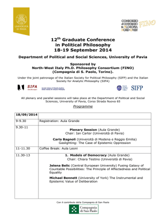 12th Graduate Conference in Political Philosophy 18
