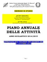 """Piano Annuale delle Attività - """"G. Marconi"""""""