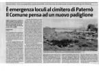 Eemergenza I,oculi al cimitero di Paternò Il (omu