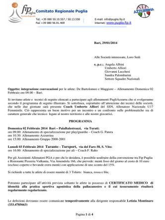 Comitato Regionale Puglia - Federazione Italiana Pallacanestro