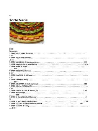 - Torte Varie