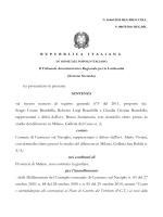 sentenza TAR MILANO 1465 2014