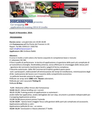 Corso 3m wrapping 14 Novembre 2014 II livello