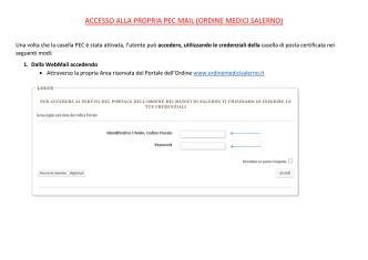 accesso alla propria pec mail (ordine medici salerno)