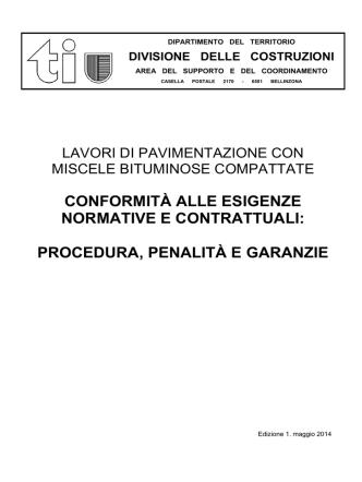 conformità alle esigenze normative e contrattuali: procedura