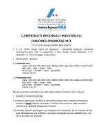 campionati regionali individuali juniores promesse m/f