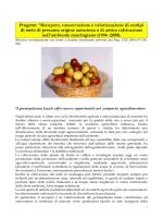 recupero, conservazione e valorizzazione del germoplasma