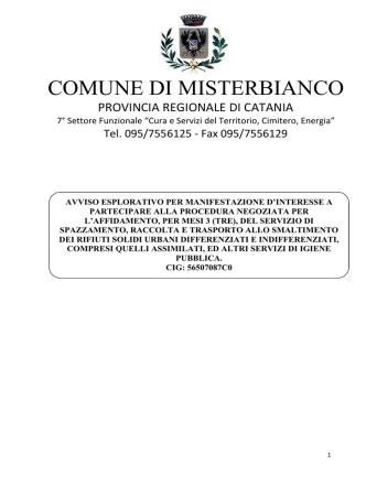 COMUNE DI MISTERBIANCO