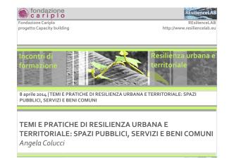 Angela Colucci - Fondazione Cariplo