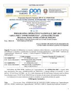 Avviso-Bando FESR-E1-2014-1847 - IISS Danilo Dolci di Partinico