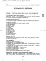 REGOLAMENTO ORGANICO - Lega Calcio Friuli Collinare