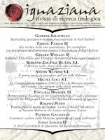 Ignaziana - rivista di ricerca teologica