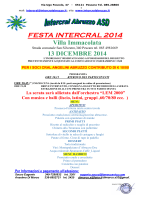 FESTA INTERCRAL 2014 Villa Immacolata