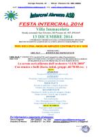 FESTA INTERCRAL 2014 Villa Immacolata