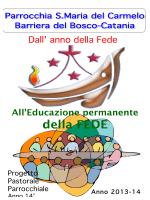 Progetto comunitario parrocchiale 2013-2014
