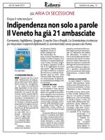 Indipendenza non solo a parole Il Veneto ha già