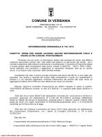 provvedimenti - Comune di Verbania