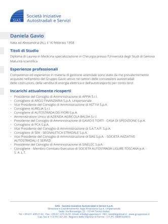 Daniela Gavio - Grupposias.it