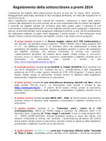 Regolamento della sottoscrizione a premi 2014