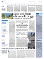 Agesci, scout italiani sulle strade del coraggio