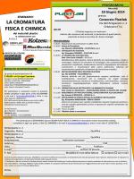 LA CROMATURA FISICA E CHIMICA
