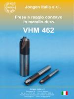 Frese a raggio concavo in metallo duro VHM 462