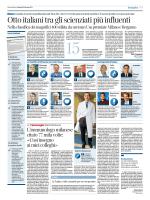 otto italiani tra gli scienziati più influenti