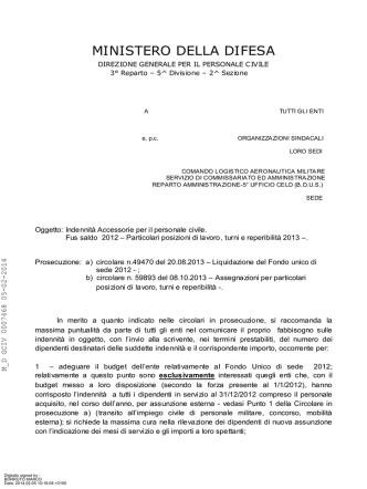 Circolare (file  404 Kb) - Ministero della Difesa