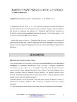 Relazione annuale - Ambito Territoriale Caccia