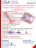 Symposium on Optical Forces: from atoms to soft