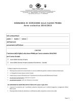 iscrizioni classi prime 2014-2015