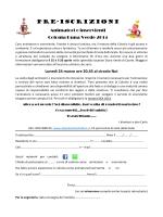 Pre-iscrizioni - Abbazia S. Stefano