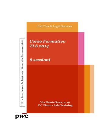 Corso Formativo TLS 2014 8 sessioni