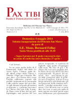 Pax tibi - Fraternità Sacerdotale San Pio X