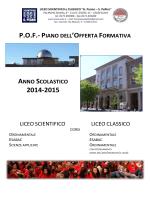 POF Liceo Peano-Pellico Cuneo 2014-2015