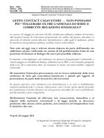 GEPIN CONTACT CASAVATORE … NON POSSIAMO PIU