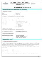 Scheda Dati di Sicurezza - Materis Paints Italia S.p.A.