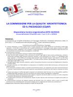 DTO 33-2014 La Commissione per la Qualità Architettonica ed il
