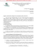 MIUR Comunicazioni su Rapporto di Autovalutazione della scuola