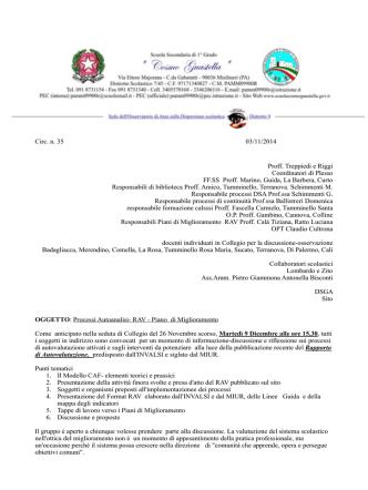 Circolare n. 35 Processi Autoanalisi- RAV